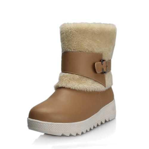 Fur Lining Keep Warm Women Winter Casual Flat Snow Boots