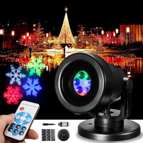 12 Patterns LED Remote RGB Laser Stage Light Festival Party DJ Disco Christmas Projector Garden