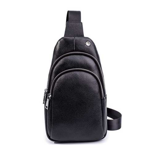 Genuine Leather Business Large Capacity Chest Bag Crossbody Bag