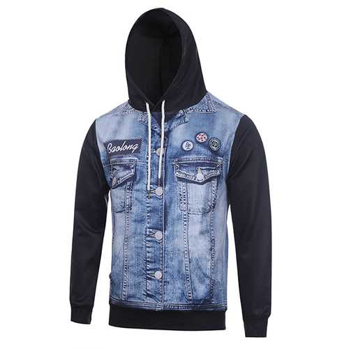 3D Cowboy Print Sweatshirt Fashion Hoodies Men Tracksuit Casual Pullovers