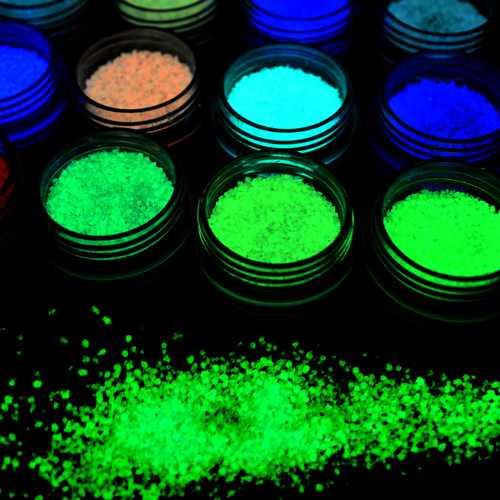 1 bottle Dancingnail Luminous Nails Powder Halloween Fluorescent Glow Decoration Dust Colorful Manic