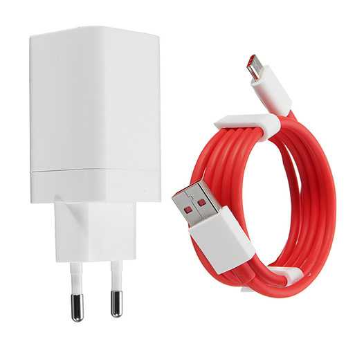 5V 4A Original Fast Phone Charger EU Adapter Type-C Cable For ONEPLUS 3T / 5