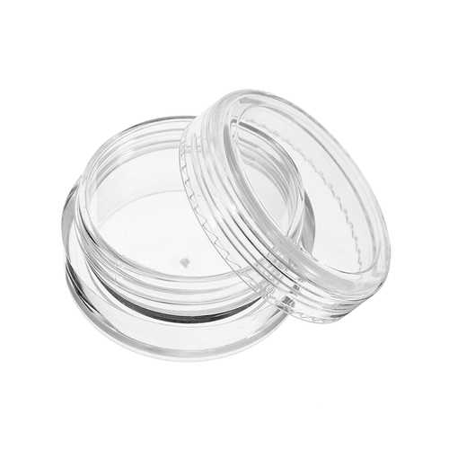 12Pcs Clear Round Plastic Jar Sample Empty Tin Storage Containers with Screw Lid