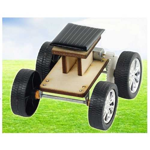 DIY Solar Wooden Car Toy Educational Assembly Model for Children