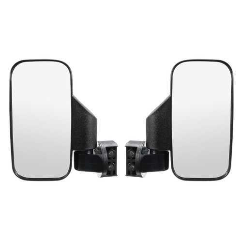 Rear Reversing Side View Mirrors Set Rectangle High Impact Break-Away For UTV/ATV Off Road
