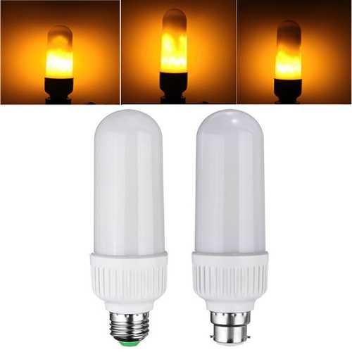 E27 B22 5W SMD2835 1800K 99LEDs Yellow Flickering Flame Corn Light Bulb AC85-265V