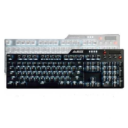 AJazz AK35i Assassin Ⅱ 104 Keys NKRO Wired White Backlit Mechanical Gaming Keyboard