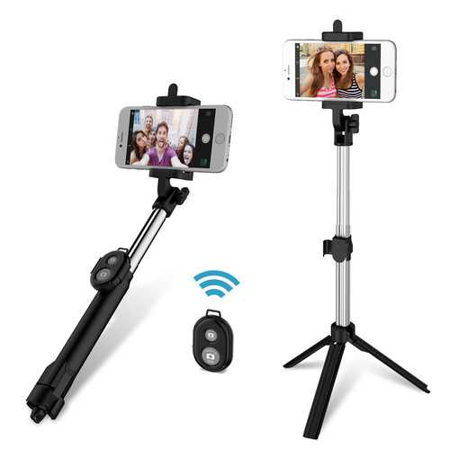 FLOVEME 3 in 1 bluetooth Remote Controller+Handheld Selfie Stick+Tripod Monopod for iPhone 8 S8 mi6