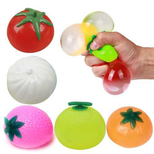 Creative Simulation Multishape Vent Fruit Reduce Stress For Kids Chlidren Gift Toys
