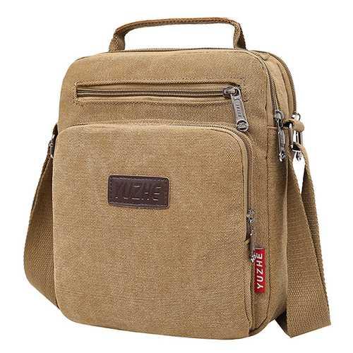Men Canvas Sling Bag Messenger Bag Small Travel Crossbody Bag Fit 9.7-inch ipad