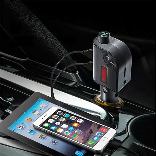 S6 Car Charger FM AUX TF Card Noise Cancelling Hands Free Call MP3 Player bluetooth Transmitter