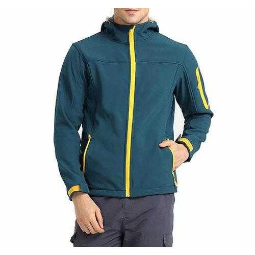 Fleece Jacket Men Soft Shell Winter Windbreaker Windproof Camping Sport Hooded Warm Coat