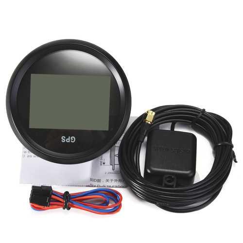 85mm Waterproof GPS Digital Speedometer Odometer Gauge