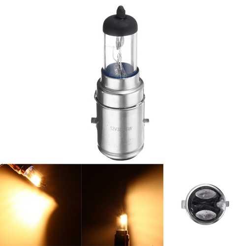 12V 1157 BA20D 35W Hi/Lo Beam Motorcycle Car Headlight Halogen Blubs Lamp