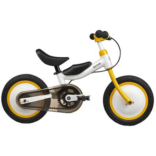 "Xiaomi QICYCLE Bike Tricycle Scooter 12""  for Children Yellow Color Slide Bicycle Dual Use"