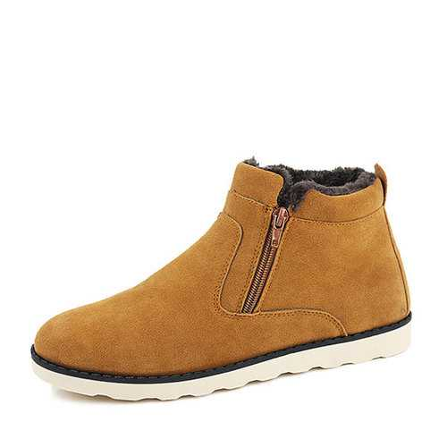 Fur Lining Suede Ankle Boots