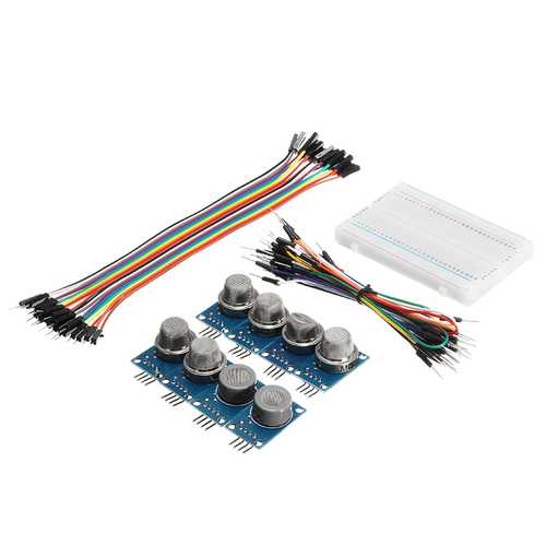 9Pcs MQ Gas Sensor Module With Breadboard Jumper Wire For  With Carton Box Package