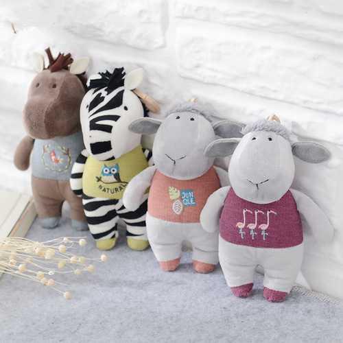 Metoo Horse Zebra Lamb Plush Doll Backpack Strap Accessories Key Chain Creative Gift