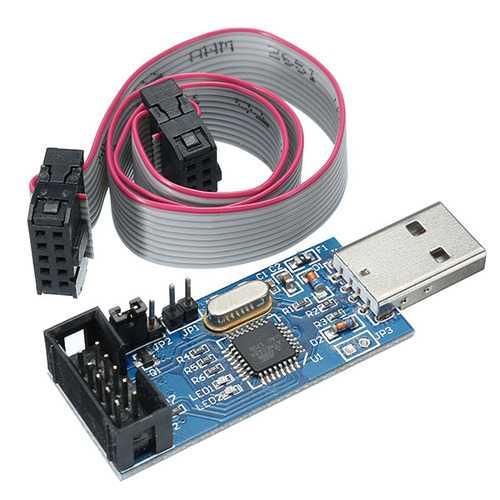 10pcs 3.3V / 5V USBASP USBISP AVR Programmer Downloader USB ISP ASP ATMEGA8 ATMEGA128 Support Win7 64K Over-Current Protection Function With Download Cable