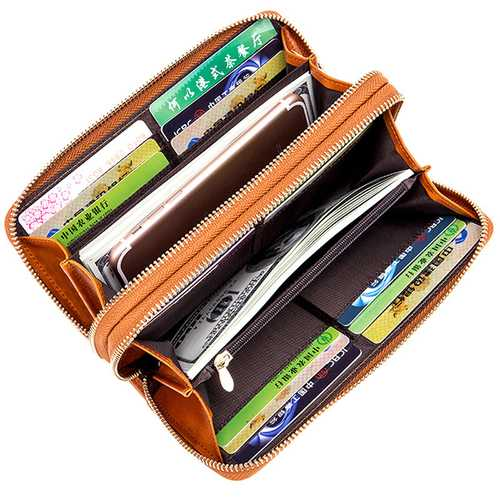 24 Card Slots Quality Genuine Leather Oil Leather Double