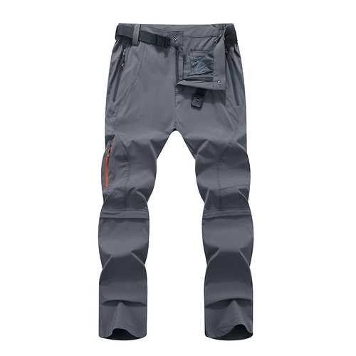 Mens Outdooors Elastic Detachable Waterproof Pants Quick Drying Breathable Climbing Trouser
