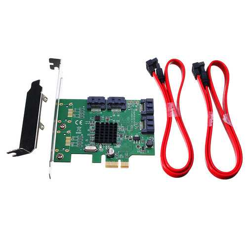 4 Port PCI-Express X1 SATA 3.0 6Gb/s Expansion Adapter Card Chipset For Marvell