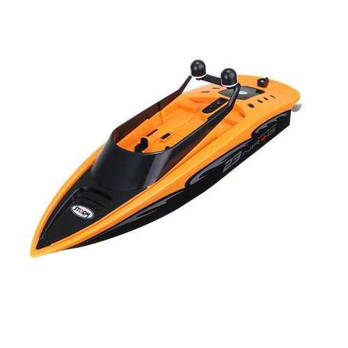 2.4Ghz 4 Channel Charging High-Speed Wireless RC Racing Boat Waterproof Orange