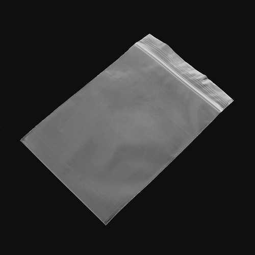 100Pcs 10x15cm Clear Plastic Zip Lock Bags Reclosable Storage Packaging Zipper Bags