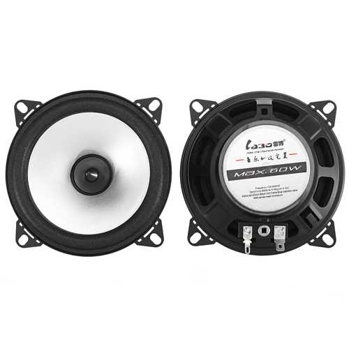 4 Inch 60W 88dB Car Audio Coaxial Speakers Systems Stereo Loudspeaker Subwoofer