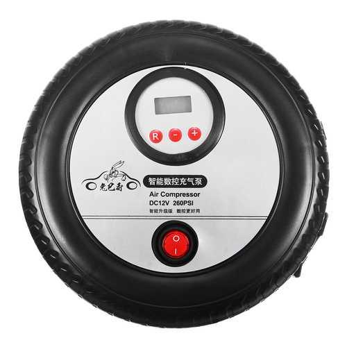 12V 260PSI Portable Mini Digital Display Pump Autoreifen Form Air Pump Compressor