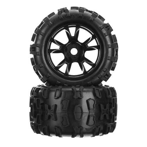 DHK Maximus 8382-704 1/8 Wheel Tire Tyre Rim Glued Complete 2PCS RC Car Parts