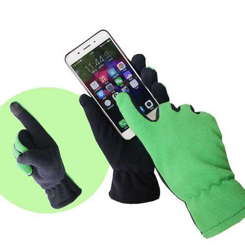 BIKIGHT Autumn Winter Screen Touch Fleece Glove Outdoor Windproof Warm Sensitive Touch Gloves
