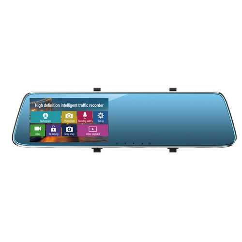 1080P Full HD Car DVR Dash Cam Rear View Mirror Driving Recorder Tachograph Touch Screen
