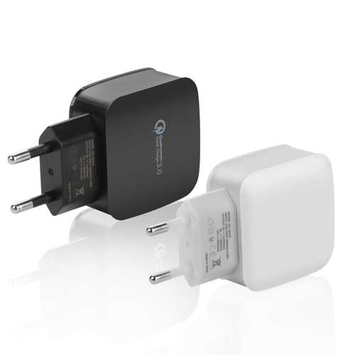 15W 2.4A QC3.0 Fast Charging EU Plug Travel Wall Charger For iphone X 8/8Plus Samsung S8 6