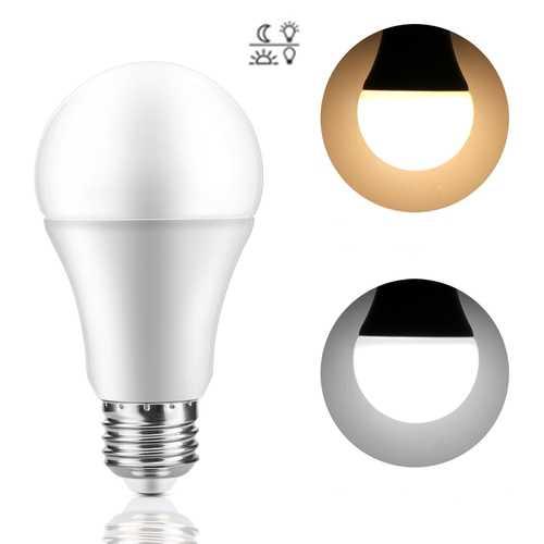 AC85-265V 7W E27 Dusk to Dawn Auto ON/OFF LED Sensor Globe Light Bulb for Home Porch Hallway