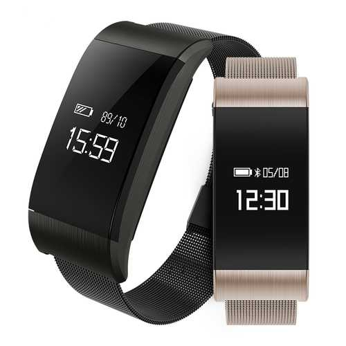 A66 0.66inch OLED Blood pressure Blood oxygen Heart Rate Monitor Pedometer Smart Bracelet For iphone