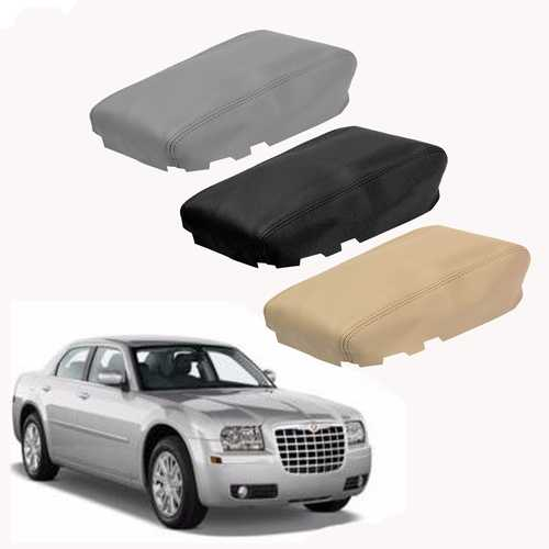 Leather Center Console Lid Armrest Cover Fit For Chrysler 300 2008-2010
