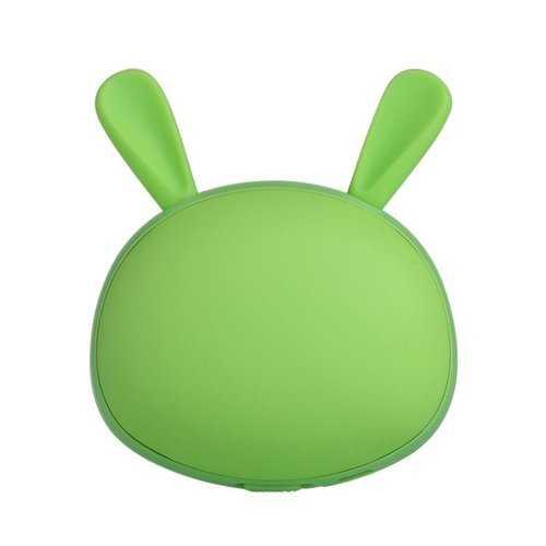 3 In 1 Mini LED Folding Make Up Mirror Portable Cartoon Rabbit Warm Hand Treasure USB Charging