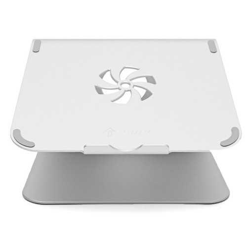 Silver Metal Notebook Laptops Stand Desktop Holder For Tablet Notebook