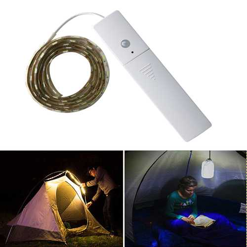 1.5M 60LEDs Strip SMD 5050 DC 5V Background Light Waterproof Camping Light AAA Batteries