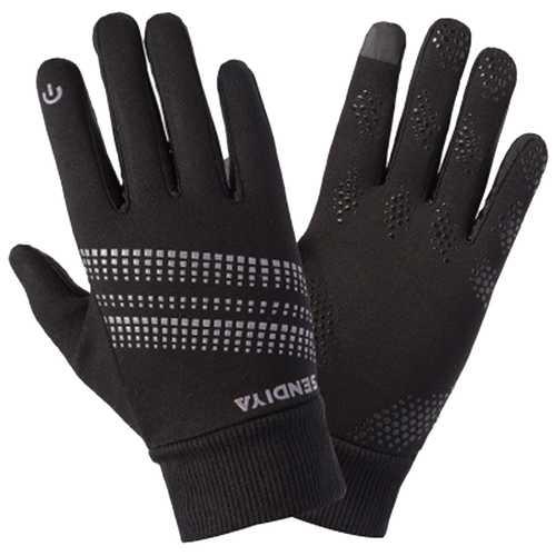BIKIGHT Outdoor Sports Climbing Cycling Gloves Men And Women Fleece Windproof Gloves Touch Screen Gloves
