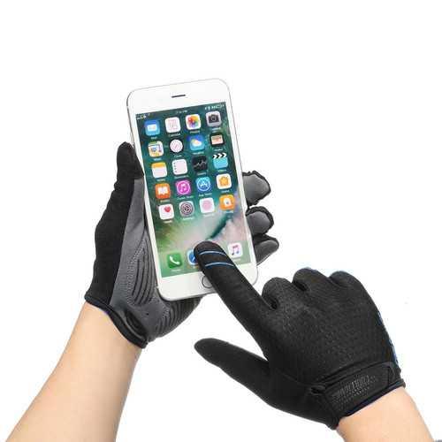 CoolChange Cycling MTB Bike Full Finger Gloves Touchscreen Sun Block Anti-skid