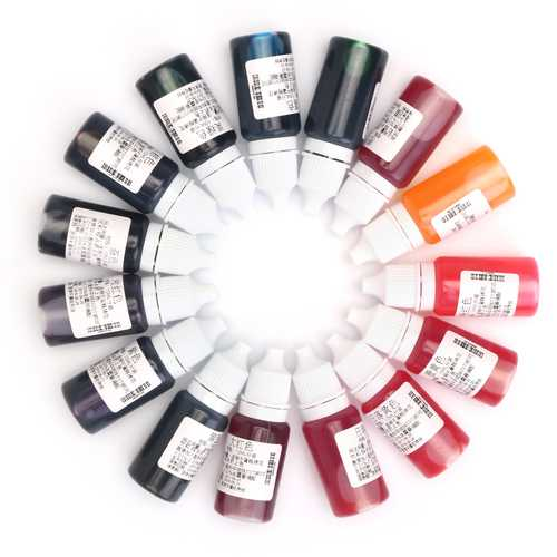 15 Colors Coloring Dye Colorant Pigment DIY Mix Color for Epoxy UV Resin Glue