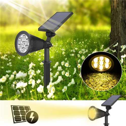 7 LED Solar Powered Waterproof Spotlight Outdoor Lawn Landscape Flood Lamp