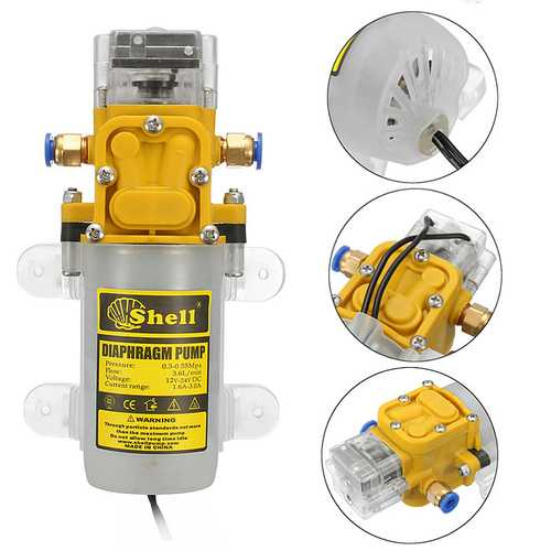 12V-24V 30W Diaphragm Water Pump High Pressure Diaphragm Water Self Priming
