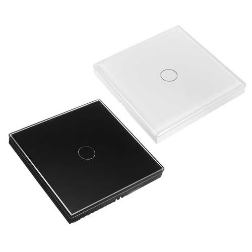1 Gang 1 WIFI Smart Light Touch Remote Control Wall Switch For Amazon Alexa
