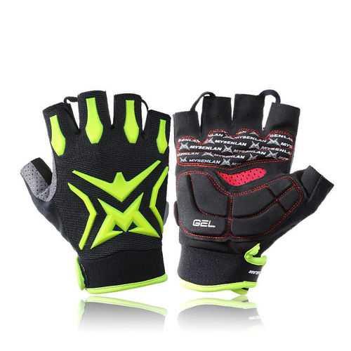Outdoor Adult Kids Cycling Bike GEL Shockproof Sport Half Finger Ski Gloves