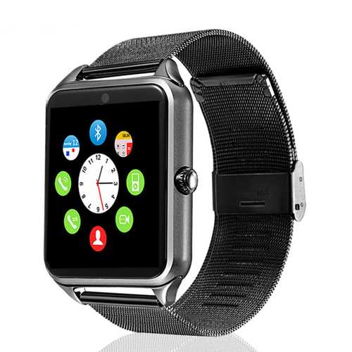 Z60 1.54inch Pedometer Sedentary Remind TF Card GSM Camera bluetooth Smartwatch For iOS Android