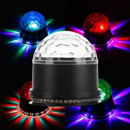 15W LED RGB Crystal Magic Ball Sunflower Stage Light Sound Actived for Chritmas Party KTV Disco