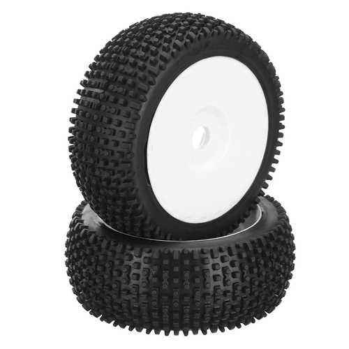DHK Hobby 8381-722 Wheel Tyre Tire Complete White Rims 2pcs 1/8 8381 Optimus RC Car Parts
